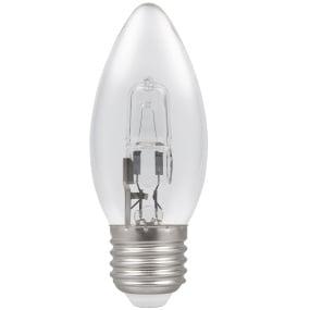 Crompton Halogen Candle Clear ES E27 28W Bulb