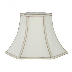 Bowed Hexagonal 12 Inch Cream Lamp Shade