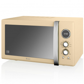 Swan Retro Cream 900W Digital Combi Microwave with Grill