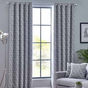 Belfield Byron Monochrome 90x90 Curtains