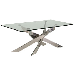 Strego Rectangular Glass Coffee Table - Angled | Housing Units