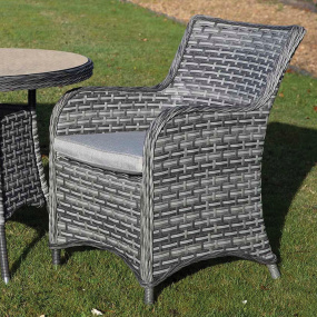 Supremo San Antonio Storm Grey Rattan Garden Armchair - Lifestyle | Housing Units