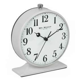 Widdop Grey Alarm Clock