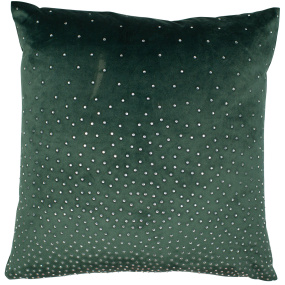 Malini Green Diamante Velvet Cushion