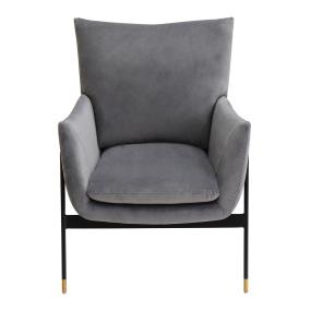 Lola Grey Velvet Accent Chair
