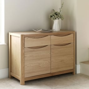 Oslo Light Oak 2 Door Sideboard