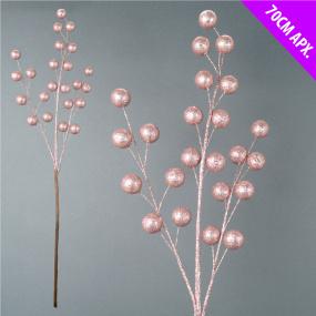 Rose Gold Glitter Ball Spray Decoration | Housing Units