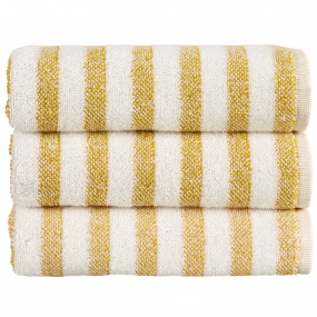 Christy Soho Stripe Ochre Bath Towel
