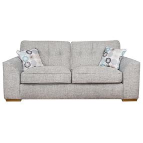 Clarendon 2 Seater Grey Fabric Sofa