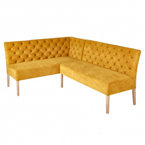 Tosca Mustard Fabric RHF Corner Bench