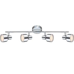 Globo Rois LED 4 Light Chrome Ceiling Light