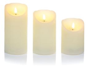 Set of 3 Flickabright Candles