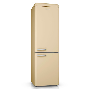 Swan Retro Cream Frost Free 70/30 Fridge Freezer