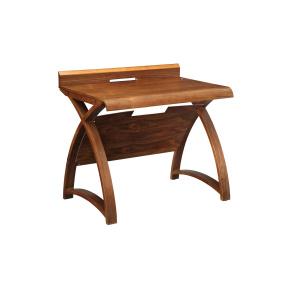 Jual PC603 Small Curve Walnut Desk
