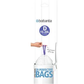 Brabantia 15 Litre Perfect Fit Bin Liners - Size D