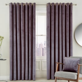 Peacock Blue Escala Damson 90x90 Curtains