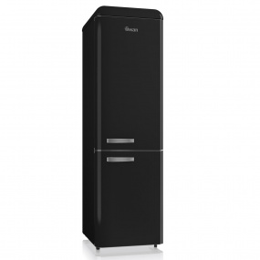 Swan Retro Black Slimline Fridge Freezer
