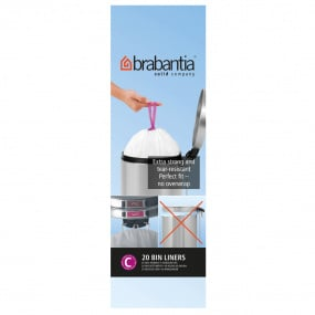 Brabantia 12 Litre Bin Liners - Size C