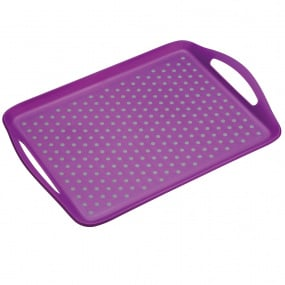 Colourworks Purple Anti-Slip Serving Tray