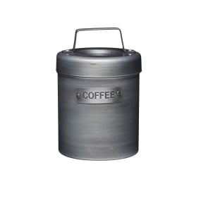 Industrial Kitchen Vintage Style Metal Coffee Caddy