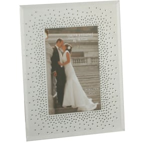 "Starburst Wedding Photo Frame 5"" x 7"""