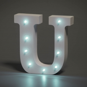 Light Up Letter - U