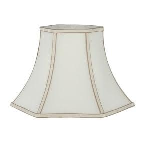 Bowed Hexagonal 14 Inch Cream Lamp Shade