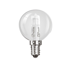 Crompton Halogen Golfball Clear SES E14 28W Light Bulb