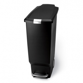 Simplehuman 25 Litre Slim Kitchen Bin in Black