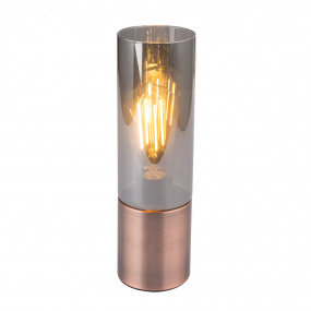 Globo Annika Antique Copper & Smoked Glass Table Lamp