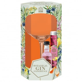 Gin Glass with Pink Gin Botanicals Set
