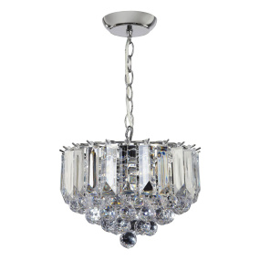 Fargo Chrome 3 Light Small Pendant Light