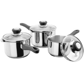 Judge Vista 3 Piece Drain and Pour Pan Set
