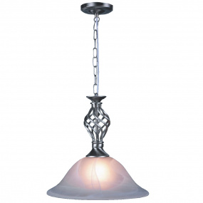 HU Home Barley Satin Chrome Classic Pendant Light