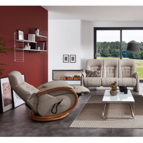 Himolla Rennes Leather Recliner Sofa, Chair & Footstool Collection - Swivel Chair & 3 Seater Sofa