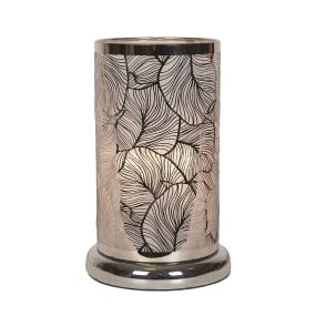 Small Silver Leaf Effect Table Lamp