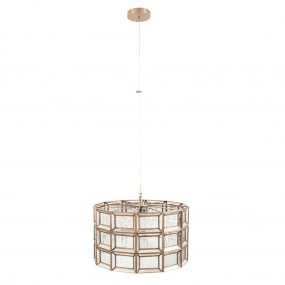 Silver Glass Brass Pendant Ceiling Light | Housing Units
