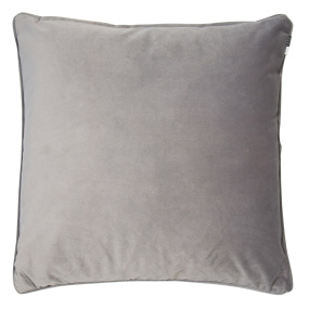 Malini Luxe Grey Velvet Piping Cushion