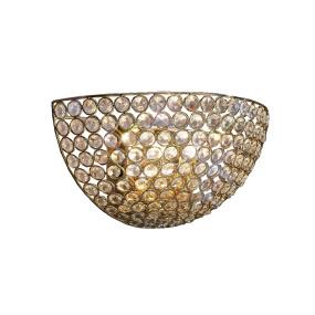 Ava Circular Wall Lamp 2 Light French Gold and Crystal