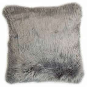 Malini Snug Faux Fur Grey Cushion