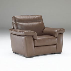 Natuzzi Editions Brivido Leather Recliner Armchair