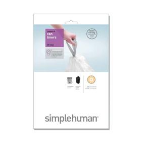 Simplehuman 60 Litre Sure Fit Q Bin Liners