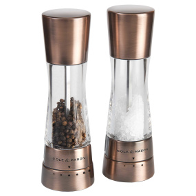 Cole & Mason Gourmet Precision Derwent Copper Salt and Pepper Mill Set