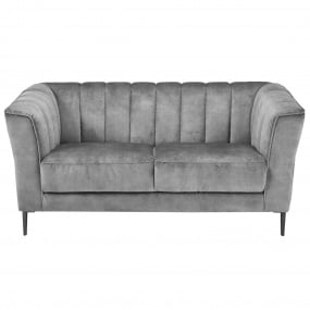 Vesper Light Grey Fabric 2 Seater Sofa - Front | Housing Units