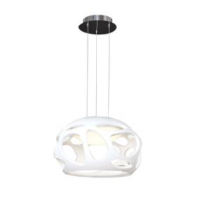 Mantra Organica Gloss White & Chrome Pendant Light
