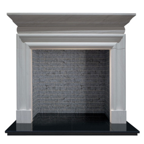 Malerba Limestone Fire Surround with Slate Grey Chamber