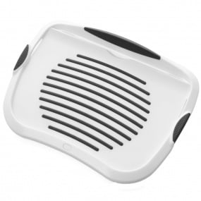 Anti-slip White and Grey iPad Lap Tray