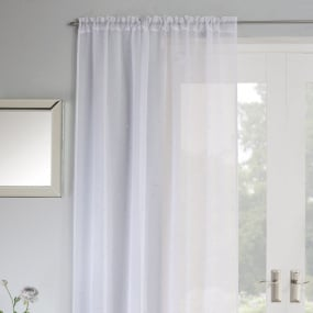 Jewel White 72 Inch Voile Panel