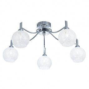 Chrysalis Chrome 5 Light Semi Flush Ceiling Light
