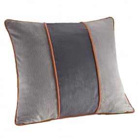 Dreamweavers Grey & Orange Tri Colour Cushion